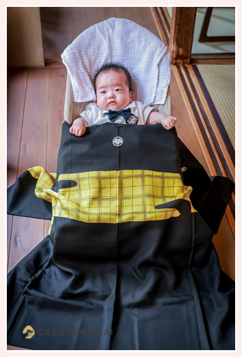 100日祝い お宮参り 3代にわたってのお祝い着(産着)