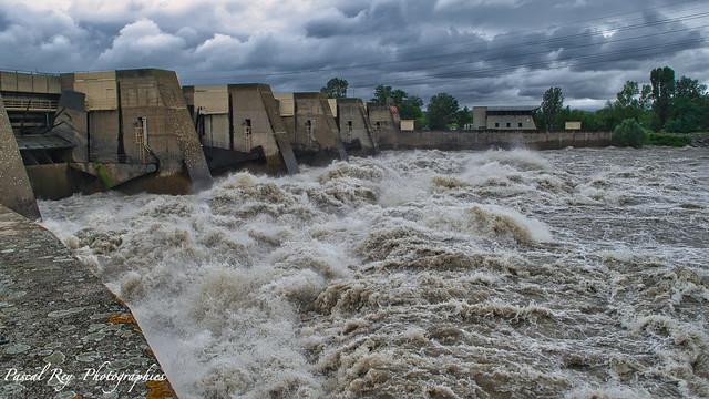 Au barrage hydro-électrique de St Pierre de Boeuf le 16 juillet 2021.