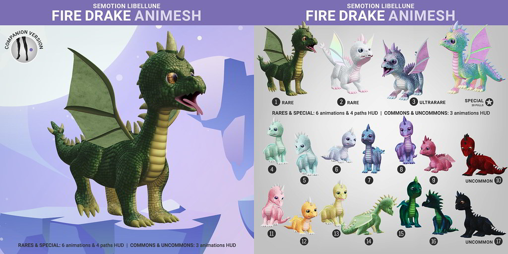 SEmotion Libellune FireDrake Animesh