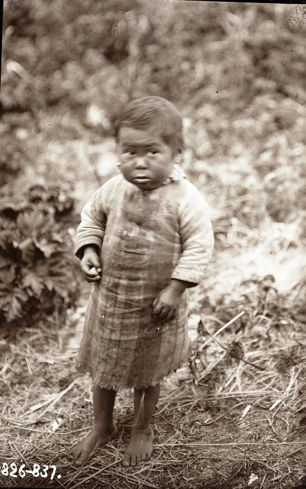 1909. Алеутский ребенок. Атту остров. 12 июня