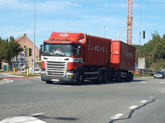 Scania G410 Euro6 Daycab 6-Series 6x2 (2016) - Oud Papier Jozef Michel N.V. Kalmthout, Antwerpen, Vlaanderen Gewest, België
