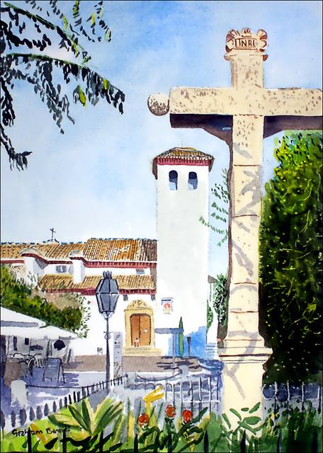 Cristo de las Lañas, Iglesia de San Miguel Bajo