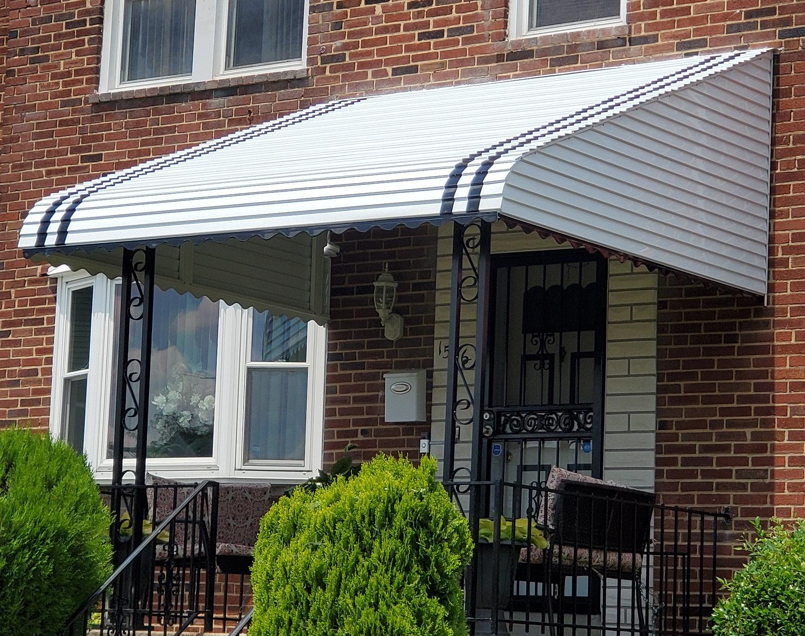 Aluminum Porch Awning Baltimore-Hoffman Awning
