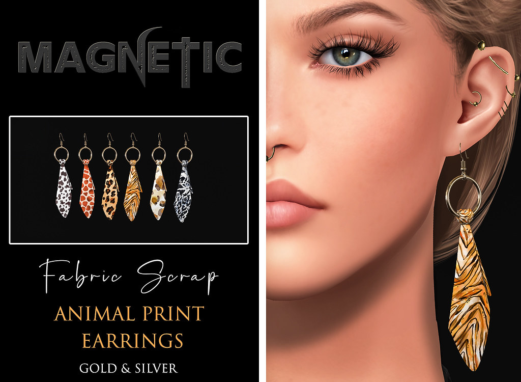 Magnetic – Fabric Scrap Earrings
