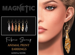 Magnetic - Fabric Scrap Earrings