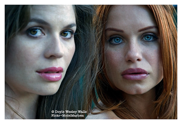 Regina and Melanie, Photographed in a Seattle Park