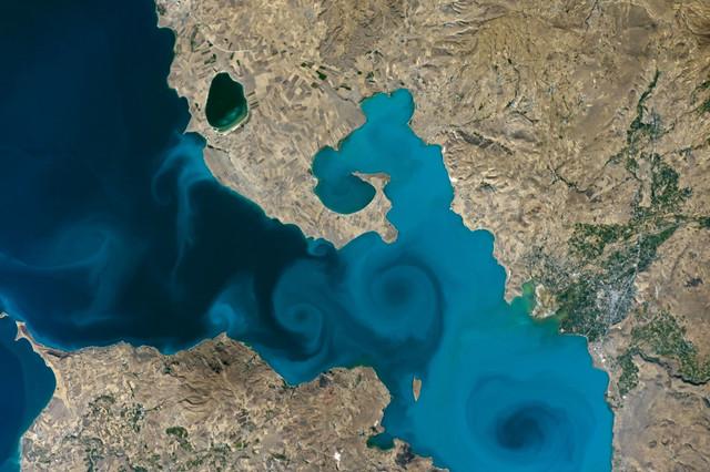 Lake Van, Turkey by NASA-JSC.