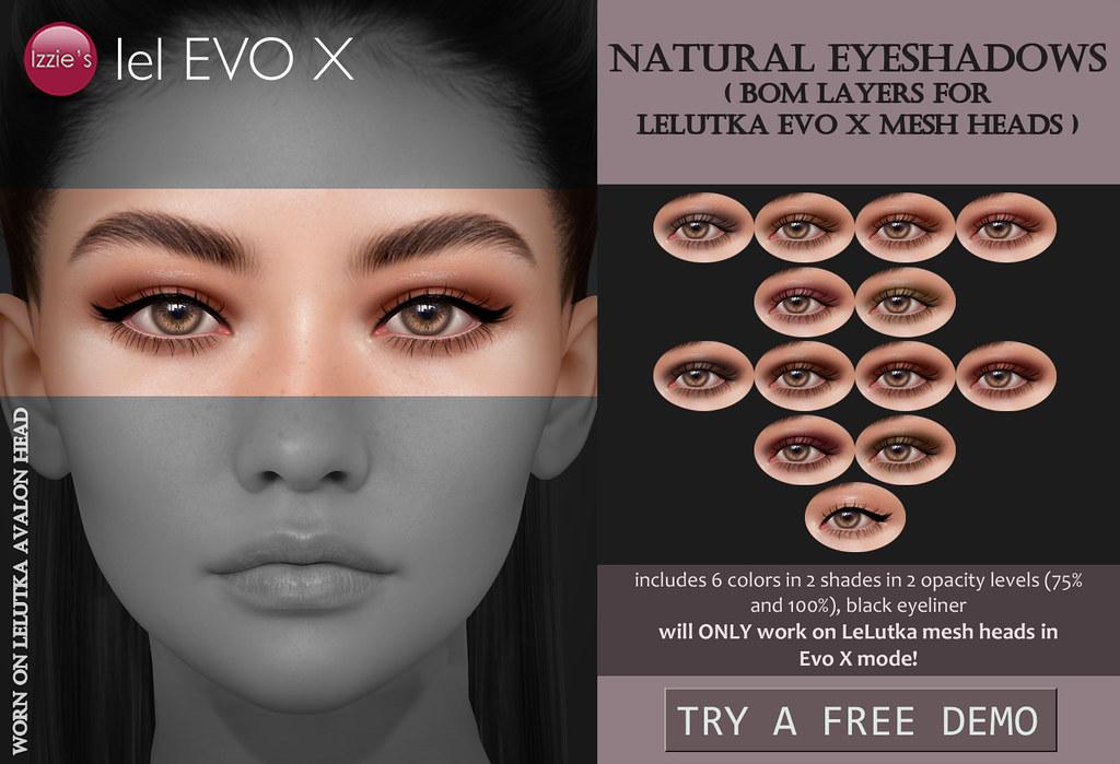 Natural Eyeshadows (LeLutka Evo X) for TLC