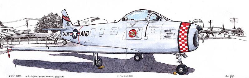 Cal Aerospace Museum F86F Sabre