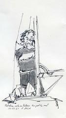 Homme au pied du mât / Sailing man
