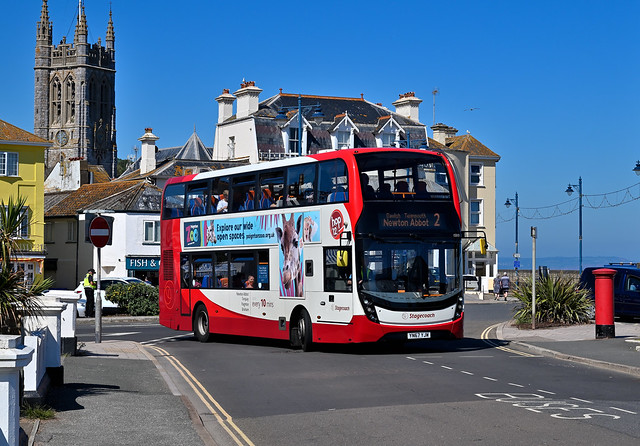 Stagecoach South West - YN67 YJW (15313) - Teignmouth, Courtenay Place