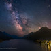 The Milky Way over Upper Waterton Lake