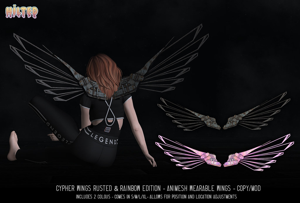 HILTED – Cypher Wings – Rusted & Rainbow Edition