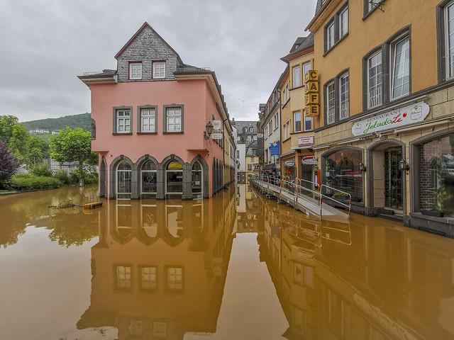 Hochwasser in Cochem/Mosel am 16.Juli 2021