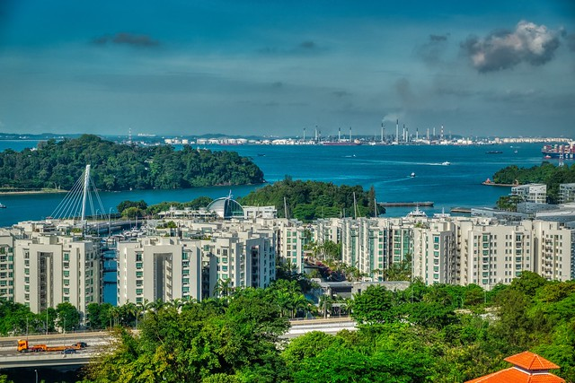 Luxury dwellings at Keppel bay in Singapore