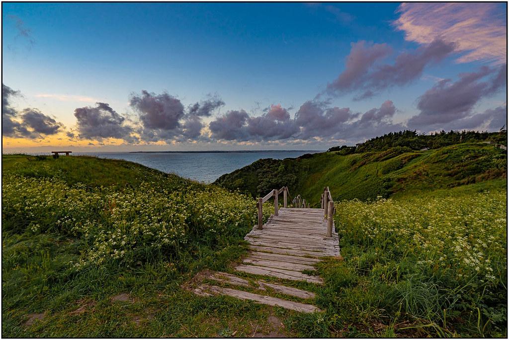 The beach stairs