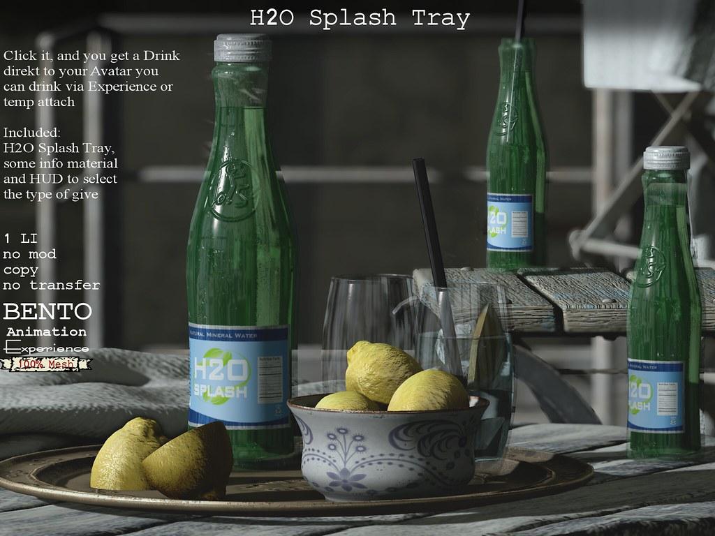 H2O Splash on tray