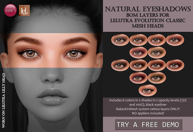 Natural Eyeshadows (LeLutka Evo Classic) for TLC