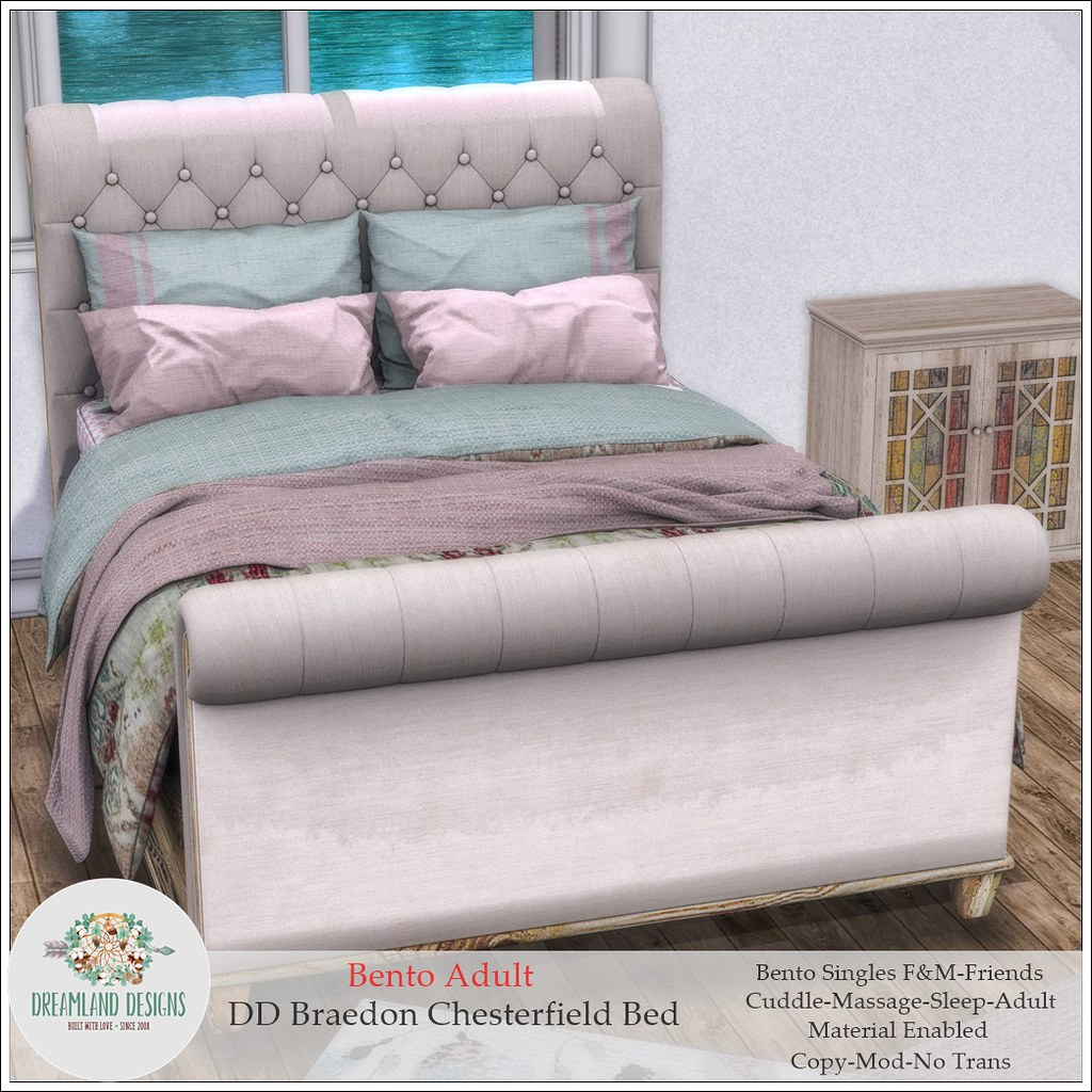 DD Braedon Chesterfield Bed-Adult