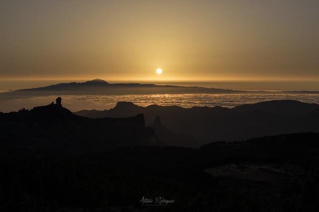 Atardecer desde Pico de las Nieves