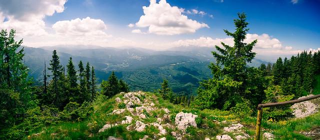 View from Postavaru, Romania