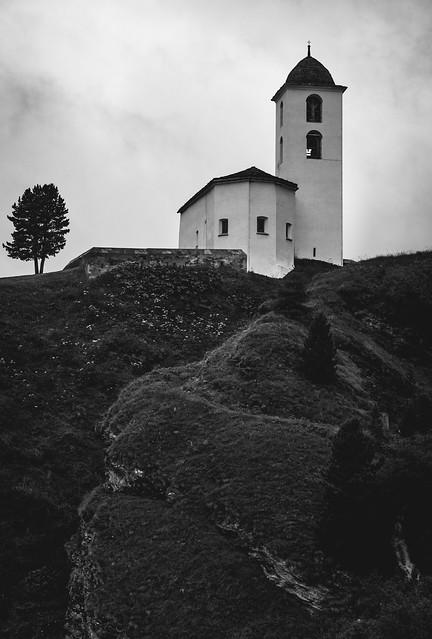 church on the hill - Avers, Switzerland