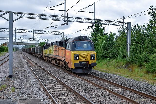 70801 passes Acton Bridge with 6Z37