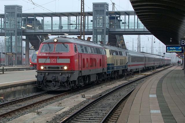 DB 218 456 + 218 489 Ulm Hbf