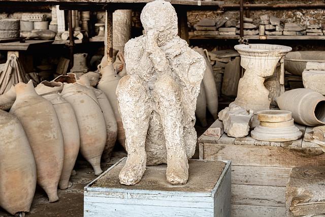 05 Pompei, scavi archeologici - un calco