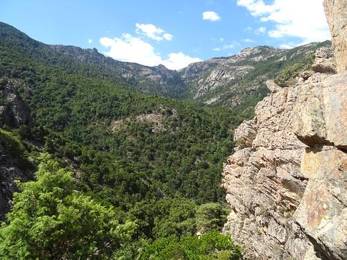Chemin RD du Finicione : au col 570m, vue Luviu - Calva