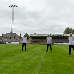 Huntly FC Management Team: Wayne Urquhart (Goalkeeping Coach, Allan Hale (Manager), Stefan Laird (Assistant Manager), Greg Taggart (Coach)