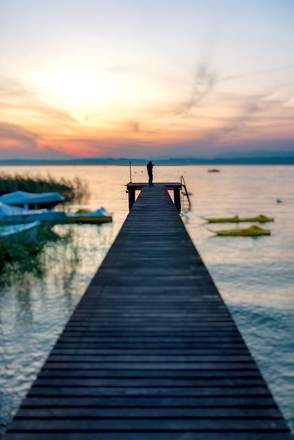 Photographer on the pier