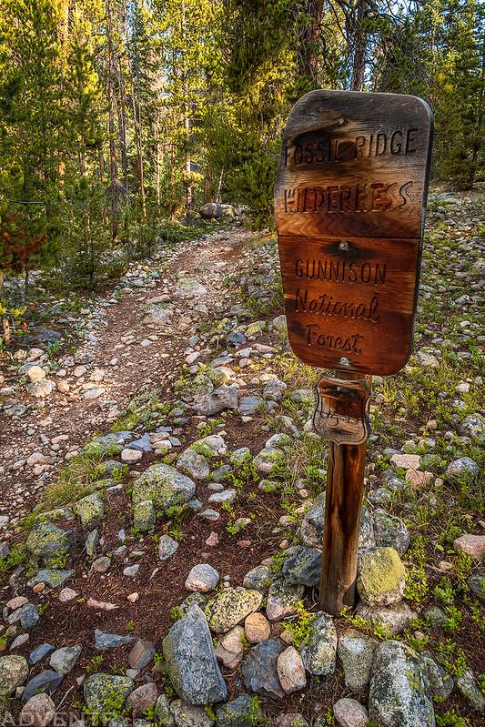 Fossil Ridge Wilderness Sign