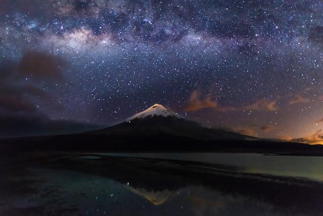 Cotopaxi volcano and milky way (Explore)