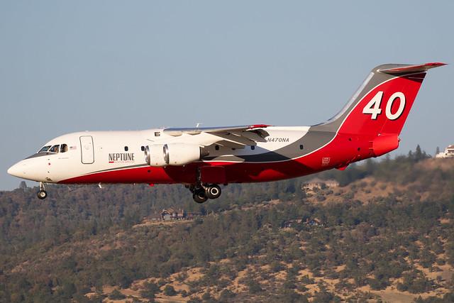 N470NA Neptune Aviation BAe-146-200 Tanker 40
