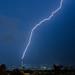 Single Lightning Bolt Over the World Trade Center / Un rayo sobre el World Trade Center