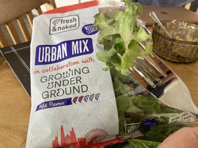 Growing Underground salad