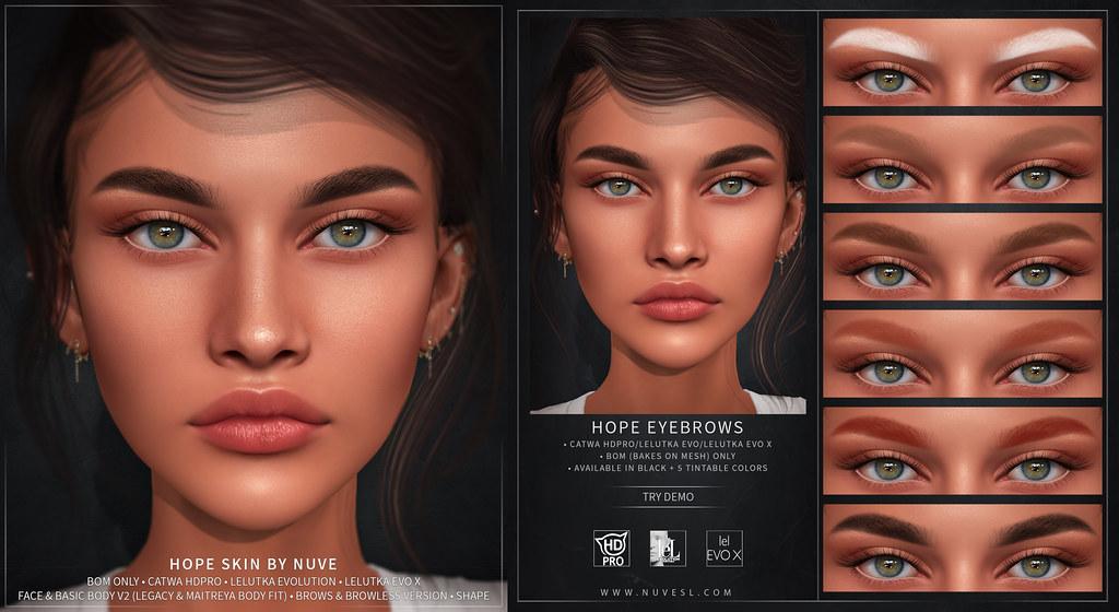 Hope skin - Catwa HDPRO/LeL Evo/LeL Evo X