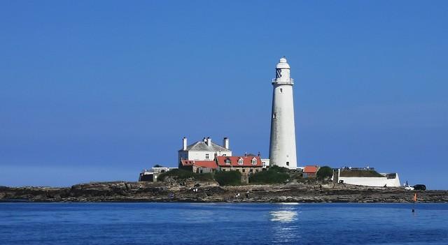 St.Mary's Lighthouse - Blue Sky, Blue Sea.