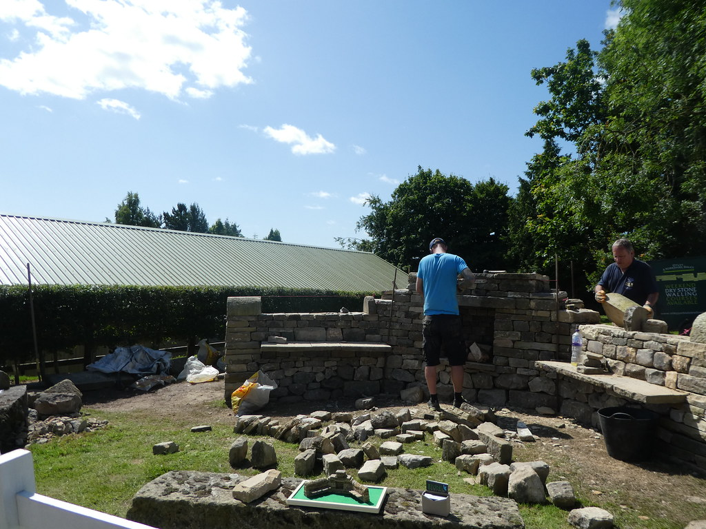 Drystone walling demonstration at the Great Yorkshire Show