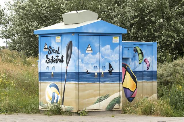 Street art- Hoogspanningshuisje - Hoek van Holland