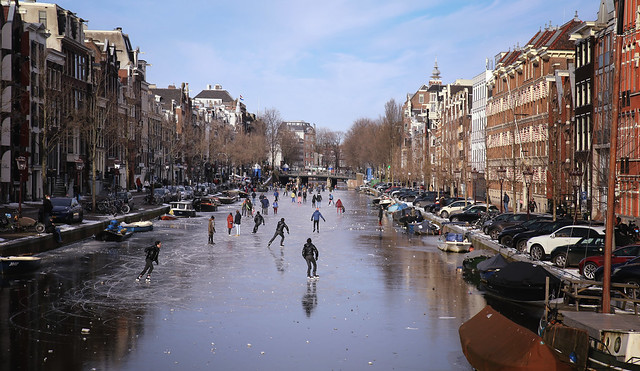 A winter's day in Amsterdam
