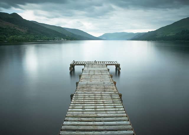 Looking out at Loch Earn!