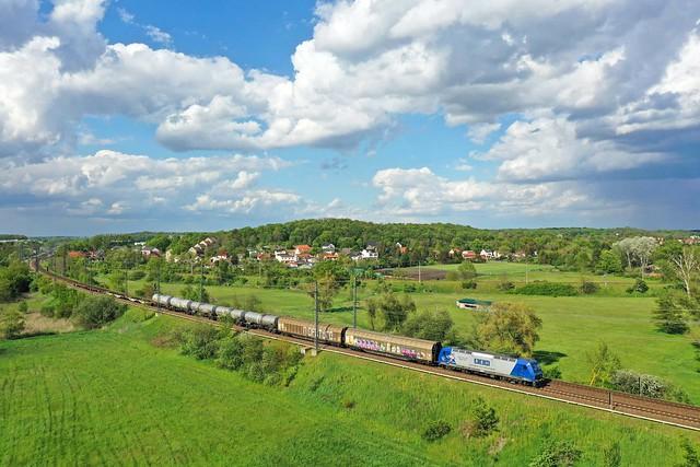 RBH 145 CL 206 + Güterzug/goederentrein/freight train   - Golm