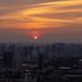Setting Sun in the City