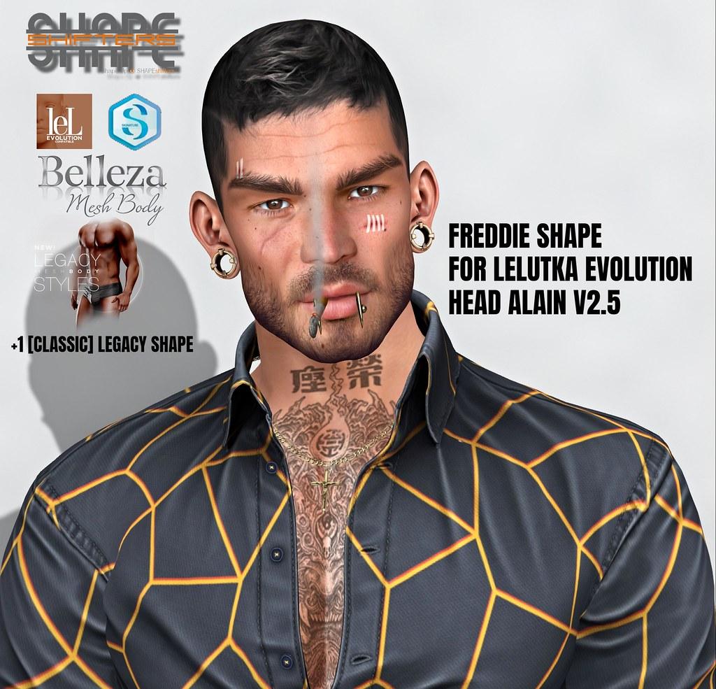 [SHAPEshifters] FREDDIE SHAPE FOR LELUTKA EVOLUTION HEAD ALAIN V2.5