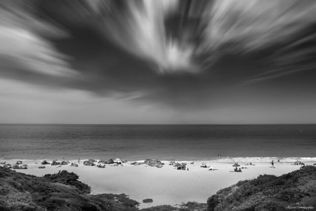 Small beach between rocks