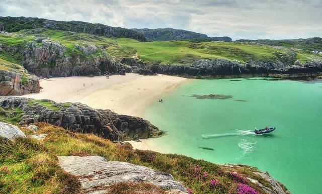 Vestey's beach, Achmelvich Bay, Lochinver, Assynt, NC500, Scotland, UK