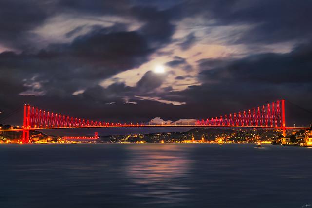 Bridge under Moonlight