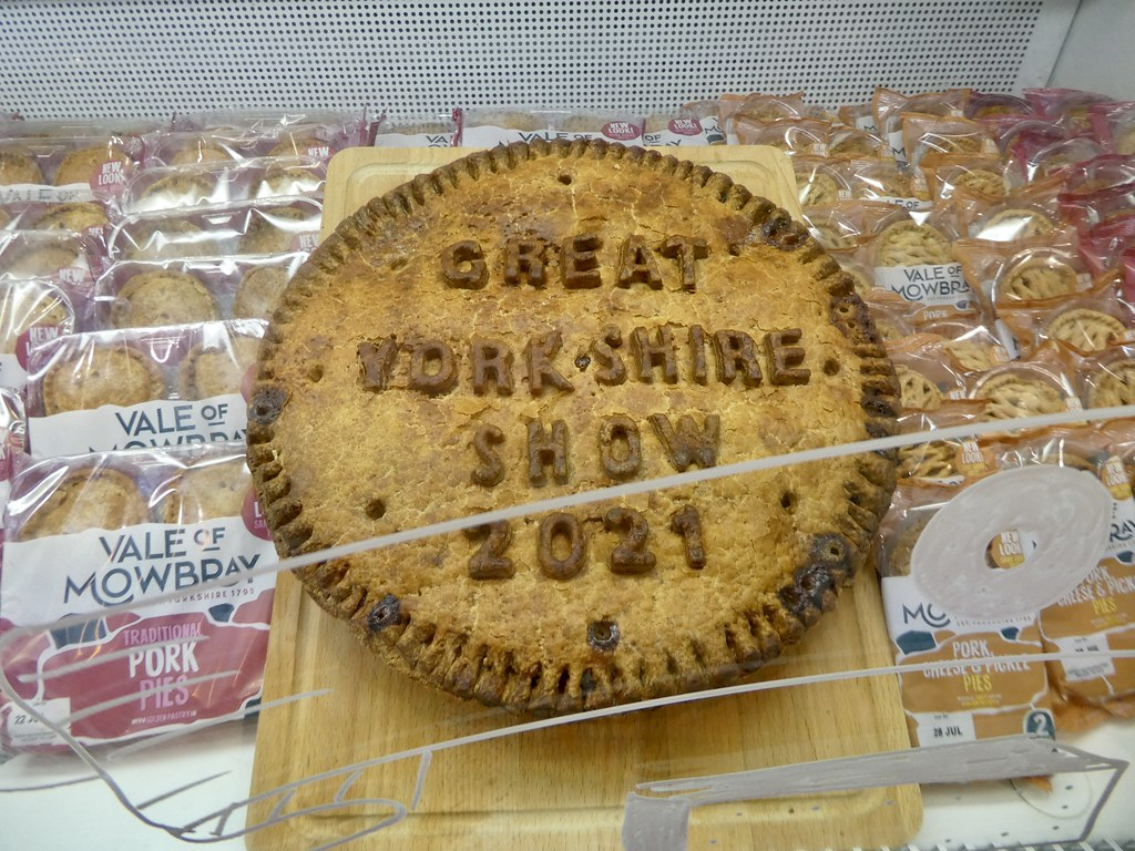 A giant pork pie at the Great Yorkshire Show